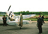Spitfire BM597 during the filming of Foyle's War 
